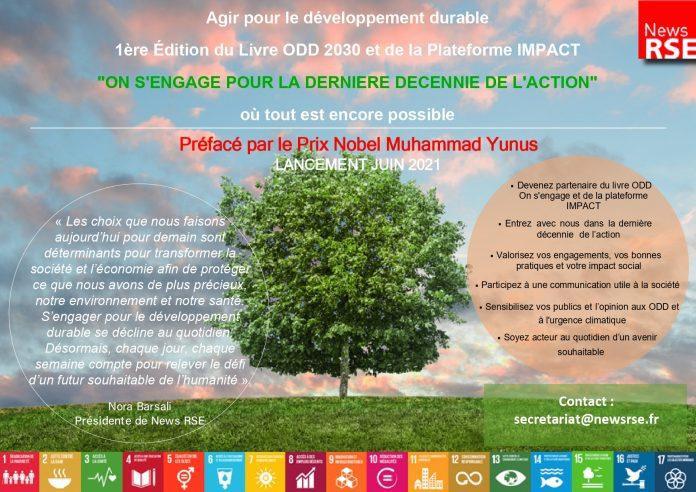 Annonce livre ODD 2030 et plateforme IMPACT