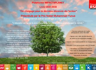 Annonce plateforme IMPACT4PLANET et livre ODD 2030