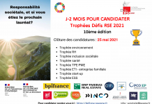 Appel à candidature J-2 mois Trophées Défis RSE 2021
