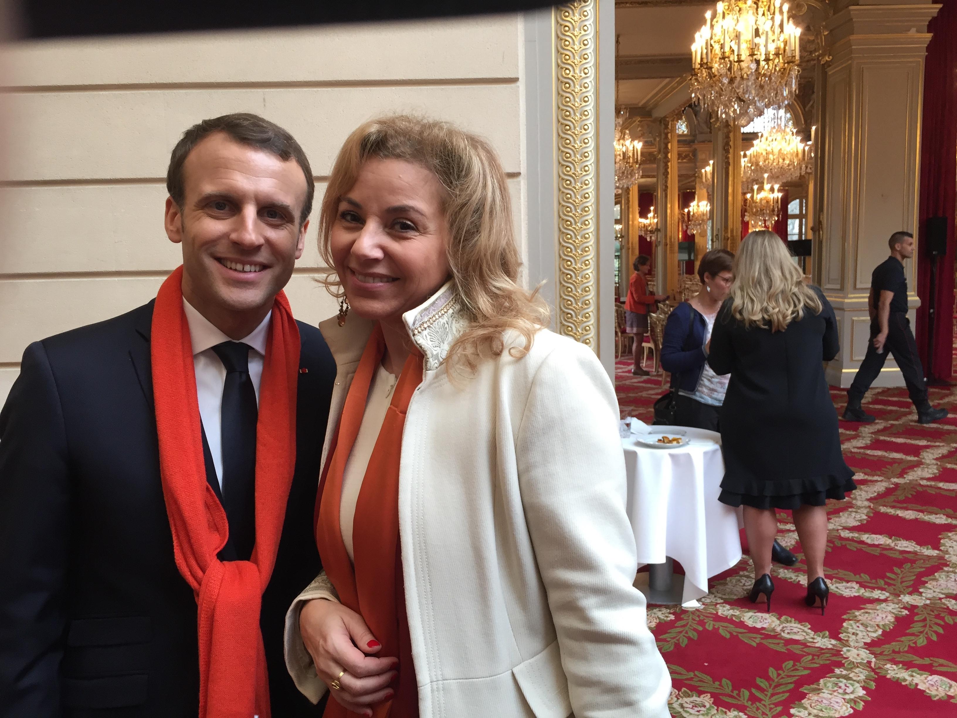 Emmanuel Macron et Nora Barsali
