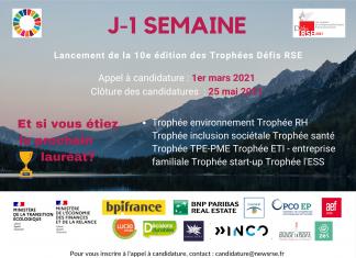 SAVE THE DATE J-1 semaine Trophées Défis RSE 2021