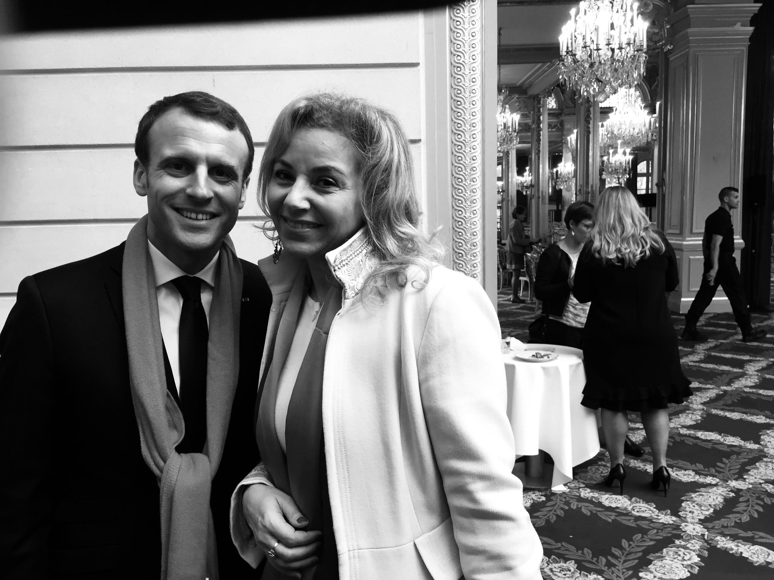 Emmanuel Macron et Noras Barsali