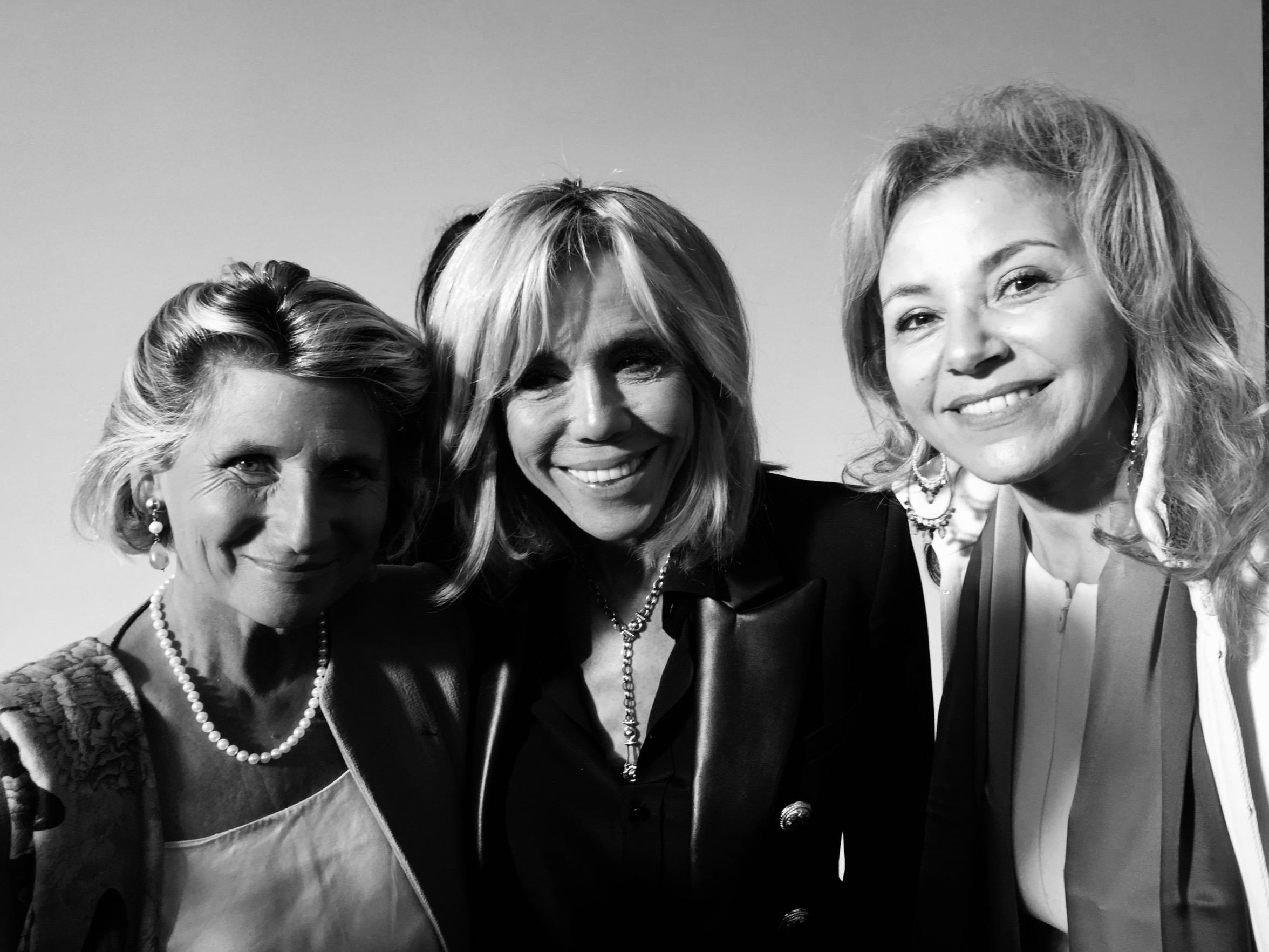 Chiara Corazza, Brigitte Macron et Nora Barsali