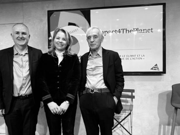 De gauche à droite : Franck Carnero, Nora Barsali et Jean Jouzel